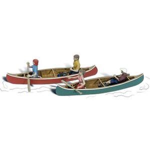 Painted Canoers (OO/HO figures) Woodland Scenics A1918