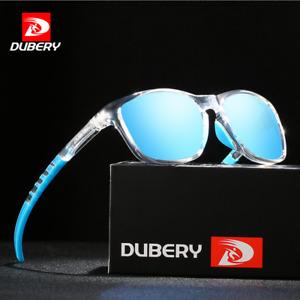 DUBERY Square Polarized Sunglasses For Men Women Outdoor Driving Sport Glasses