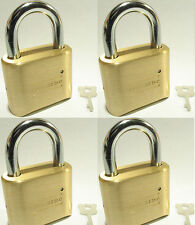 Lock, Brass, Master, Combination #175 (Lot 4) 4 Dial Resettable High Security