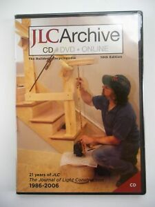 JLC ARCHIVE Journal of Light Construction CD 1986 - 2006 10th Edition NEW SEALED