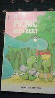 pb scholastic book vintage a PICNIC with bert 1983 FREE SHIP read cute dino