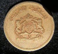 1974 Morocco 10 santimat Coin in Fine Grade
