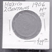 MEXICO - BEAUTIFUL HISTORICAL BRONZE 2 CENTAVOS, 1906, KM# 419