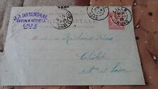 Entier postal - Carte Postale type Mouchon retouché 10c - De Lille à Cholet 1903