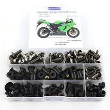 Motorcycle Fairing Bolts Screws Fasteners Kit For 2005 2006 Kawasaki ZX-6R Black