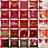 Christmas Pillows Cover Decor Throw Waist Pillow Case Sofa Throw Cushion Cover
