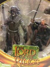 Lord Of The Rings Uruk-Hai Warrior & Gimli Action Figure W/ AccessoriesLL07