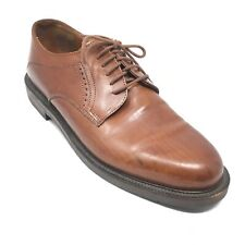 Men's Johnston & Murphy Passport Oxfords Shoes Size 9.5 M Brown Leather AA11