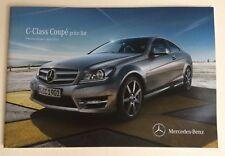 Mercedes . C Class . C Class Coupe Price List . April 2012 Sales Brochure