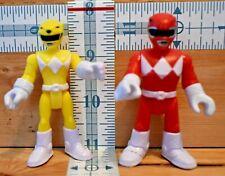 2 POWER RANGERS Action Figures Red & Yellow SCG Power Rangers LLC