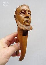 rare casse noix figuratif sculpté d'un personnage politique barbu - NUTCRACKER