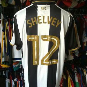 NEWCASTLE UNITED 2016 HOME FOOTBALL SHIRT #12 SHELVEY PUMA JERSEY SIZE ADULT XL