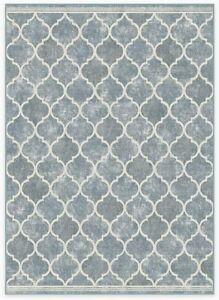 RUGGABLE Machine Washable Area Rug - Moroccan Collection - 2-Piece 5x7 Slate