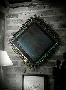 Distressed effect mirror, frame by LINE VAUTRIN - ex Lamberty for Aynhoe Park