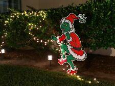 2 sided -ON SALE! GRINCH Stealing the CHRISTMAS Lights Yard Decoration