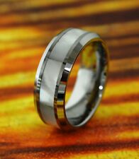 Wedding Band 8MM Tungsten with White Mother Of Pearl Inlay,Wedding Ring,Holiday.