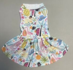 Dog Clothes Harness Dress With D-ring. Size : 7  Small