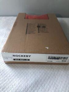 IKEA Nockeby Risane Orange Ottoman Cover NEW Linen Blend Footstool 202.804.48
