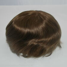 medium brown mens toupee lace front hair system #4 ready made human hair piece