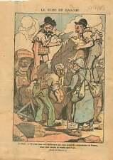Caricature Bloc des Gauches Franc-Maçons Socialistes Poilus FM 1919 ILLUSTRATION