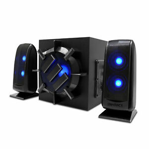 Computer Speaker Sound System - 2.1 Subwoofer with 80W Peak, LED Satellites