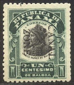 CANAL ZONE #22e SCARCE Mint NH! - 1907 1c Green & Black, Dbl Ovpt