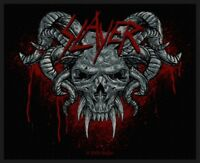 SLAYER Demonic Woven Patch Sew On Official Band Merch Thrash Metal (New)