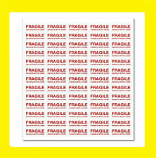 130 FRAGILE - Handle With Care Labels Small Stickers. 2 A4 Sheets UK