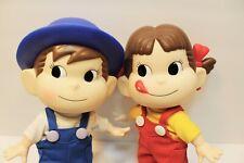 "Milky Candy Poko & Peko-chan Soft Vinyl Figure Dolls 9.5"" FUJIYA JAPAN ANIME"