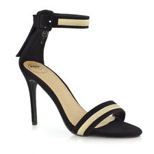 Womens Strappy Stiletto High Heel Sandals Ladies Party Prom Shoes Size 3-8