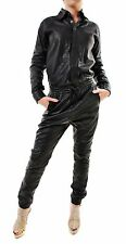 One Teaspoon Women's Perforated Leather Worksuit Jumpsuit 16741 Size S BCF69