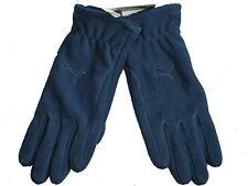 Puma denim blue unisex fundamentals warm fleece polyester gloves Size Medium