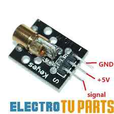 650nm Laser sensor Module 6mm 5V 5mW Red Laser Dot Diode Arduino & Raspberry Pi