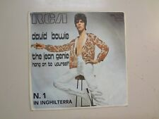 "DAVID BOWIE: Jean Genie-Hang On To Yourself-Italy 7"" 1973 RCA Victor 74-0838 PSL"