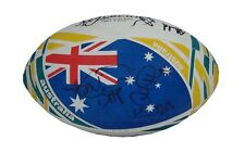 AUSTRALIA WALLABIES RUGBY SIGNED RUGBY WORLD CUP BALL 2015+PHOTO PROOF*SEE SIGN*