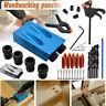 Pocket Hole Jig Kit Woodworking Guide Oblique Drill Angle Hole Locator Set Kit
