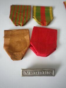 Barrette VERDUN ancienne pour médaille militaire française french medal, ruban