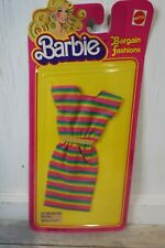 Barbie Bargain Fashions Outfit Clothes NOS on Card 3444 Striped Dress