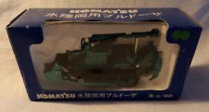Shinsei mini power 36 komatsu Amphibious Tracked Dozer with Rippers 1/60 MIB