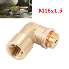 New 90° Lambda O2 Oxygen Sensor Extender Spacer For Decat Hydrogen Brass M18x1.5