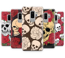 SKULLS AND ROSES DESIGN PATTERNS PRINTED PHONE CASE FOR SAMSUNG GALAXY S9 PLUS