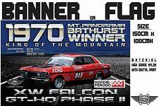 Musclecar Bathurst Winner 1970 XW Falcon GTHO PhaseII  display flag / banner