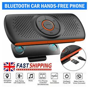 Wireless Bluetooth Car Speaker Phone Hands-free MP3 Kit Sun Visor Clip Drive NEW