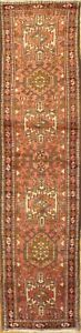 """Antique Hand-knotted Per Karajeh Runner Rug - 2'4""""X10'2"""""""