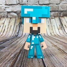 "Minecraft Diamond Steve 6"" Tall Vinyl Figure with Removable Helmet by Notch"