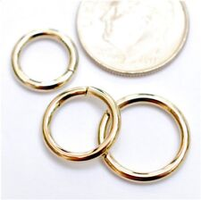 14k Solid Yellow Gold Nose ,Lip ,Ear Piercing Hoop Ring (18g)