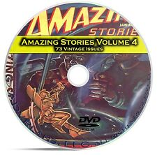 Amazing Stories Vol 4, 73 Classic Pulp Magazine, Fiction, Hugo Gernsbeck DVD C34