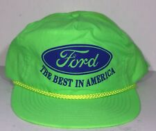 Vtg Ford Trucks Neon Green Trucker Farmer Hat The Best In America Deadstock