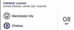 PRE-ORDER.8/5/2021.MANCHESTER CITY v CHELSEA OFFICIAL PROGRAMME MINT UNOPENED