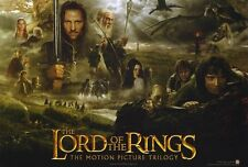 LORD OF THE RINGS 1: THE FELLOWSHIP OF THE RING Movie POSTER 27x40 F Elijah Wood